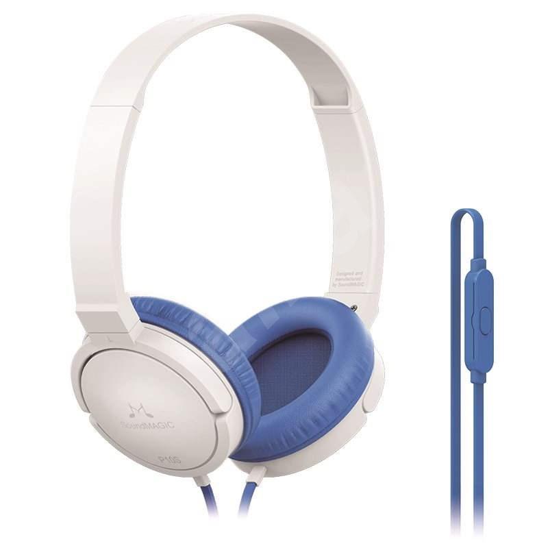 SoundMAGIC P10S bílo-modrá - Sluchátka