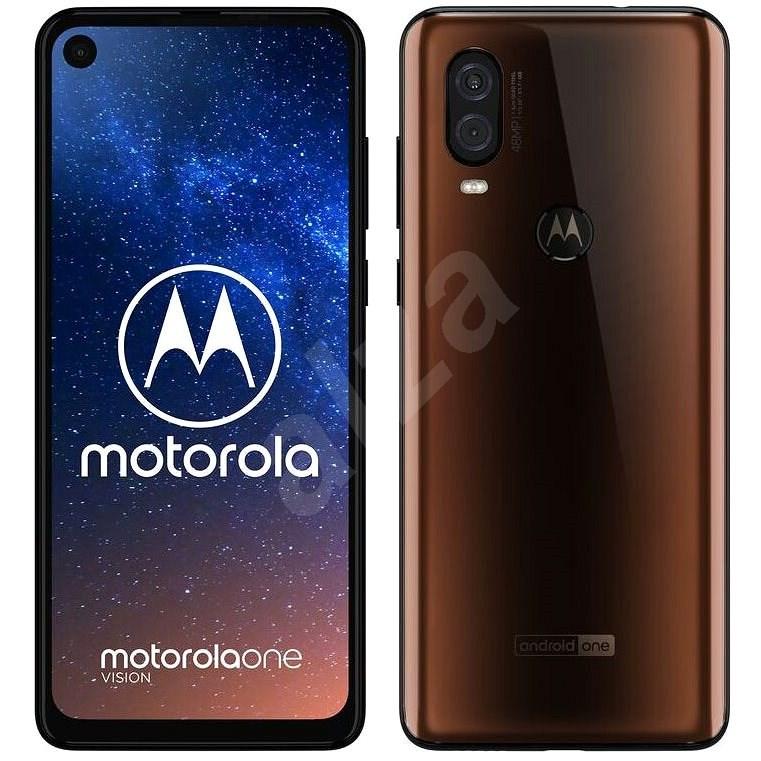 Motorola One Vision bronzová - Mobilní telefon