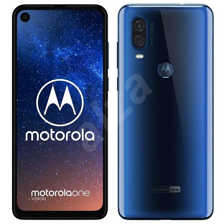 Motorola One Vision modrá  - Mobilní telefon