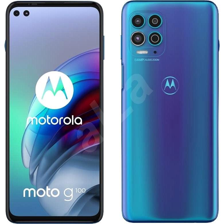 Motorola Moto G100 modrá - Mobilní telefon