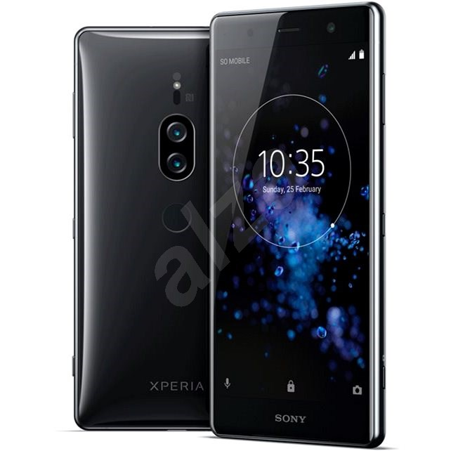 Sony Xperia XZ2 Premium Chrome Black - Mobilní telefon