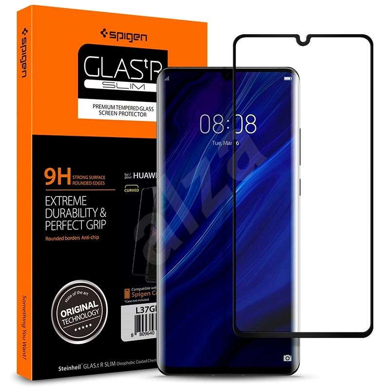 Spigen Glas.tR Curved Black Huawei P30 Pro - Ochranné sklo