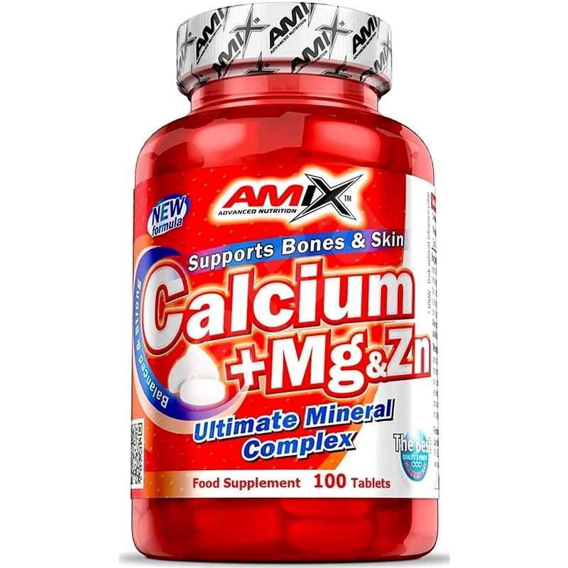 Amix Nutrition Ca + Mg + Zn, 100tbl - Minerály
