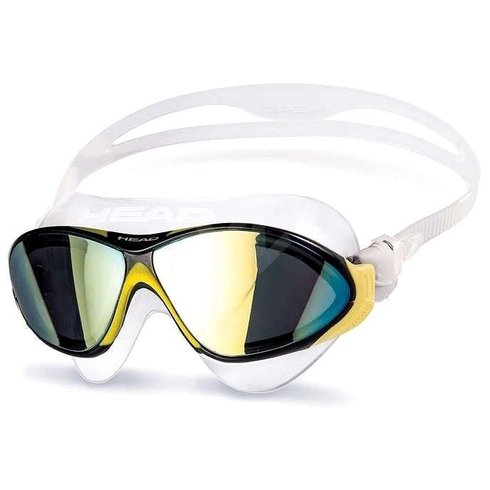 Head Horizon, zrcadlové, žlutá - Plavecké brýle