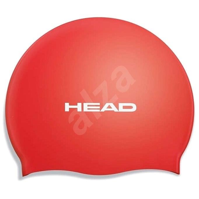 Head Silicone Flat, červená - Plavecká čepice