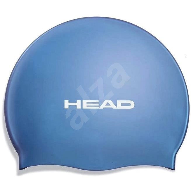 Head Silicone Flat, modrá - Plavecká čepice