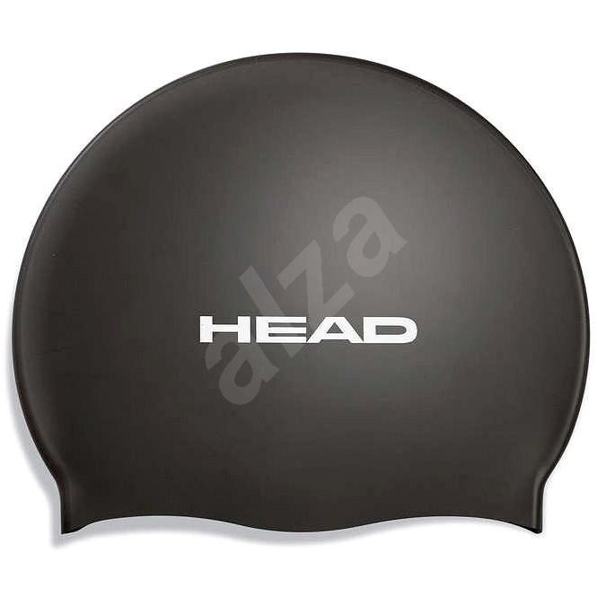 Head Silicone Flat, černá - Plavecká čepice