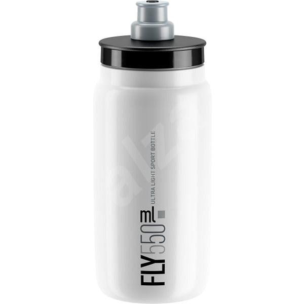 ELITE láhev FLY bílá/šedé logo, 550 ml - Láhev na pití