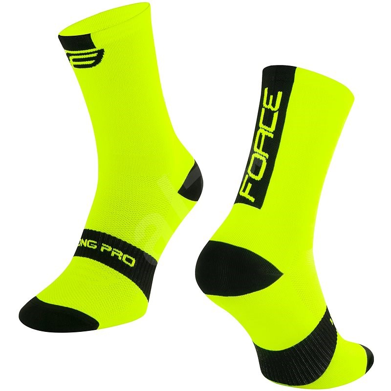 Force LONG PRO žlutá/černá 42-46 EU - Ponožky