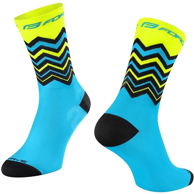 Force WAVE žlutá/modrá 42-46 EU - Ponožky