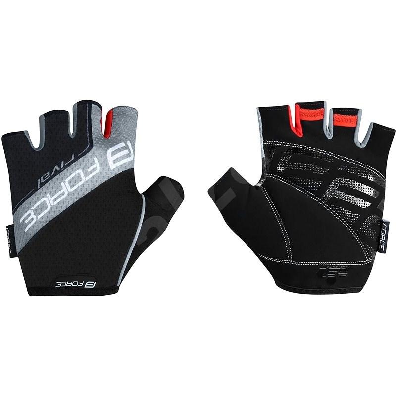 Force RIVAL, černo-šedé M - Cyklistické rukavice