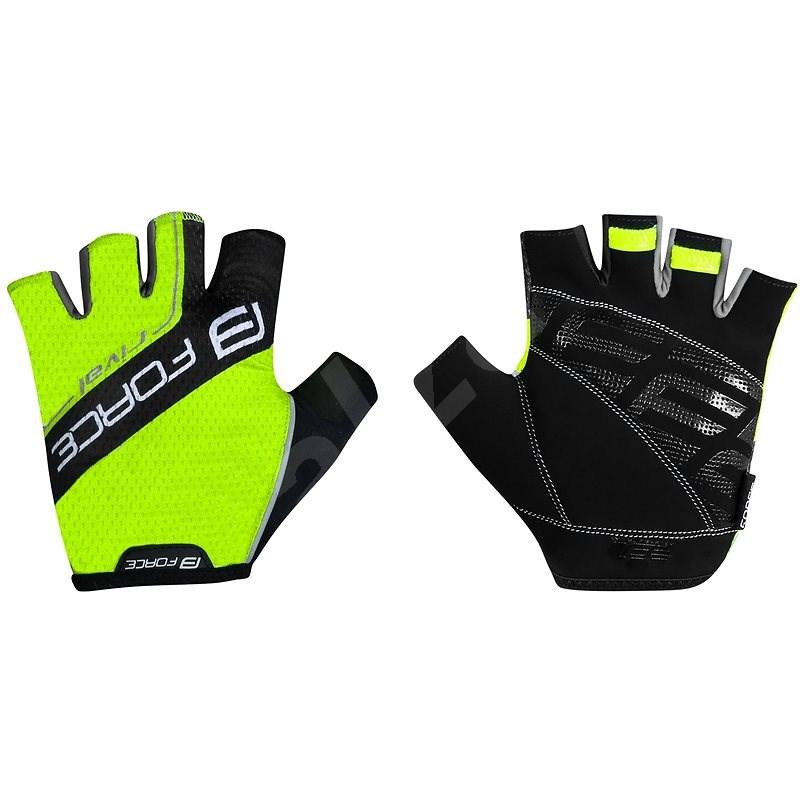 Force RIVAL, fluo-černé XXL - Cyklistické rukavice