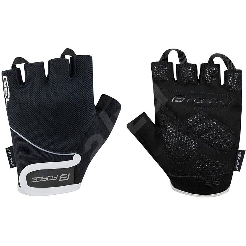 Force GEL, černé XS - Cyklistické rukavice