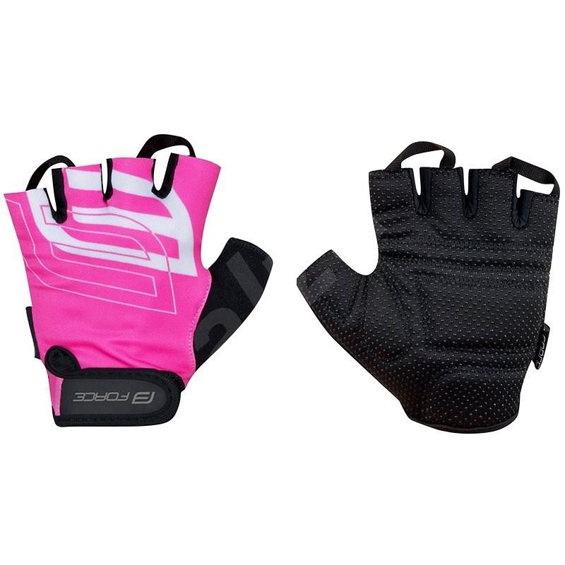 Force SPORT, růžové L - Cyklistické rukavice