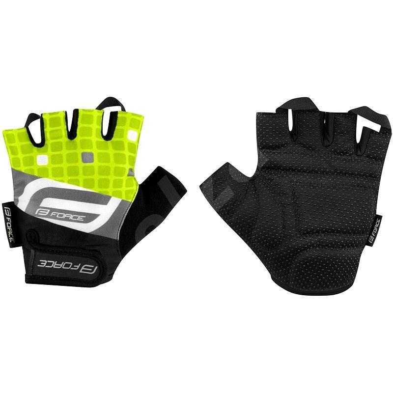 Force SQUARE, fluo XS - Cyklistické rukavice