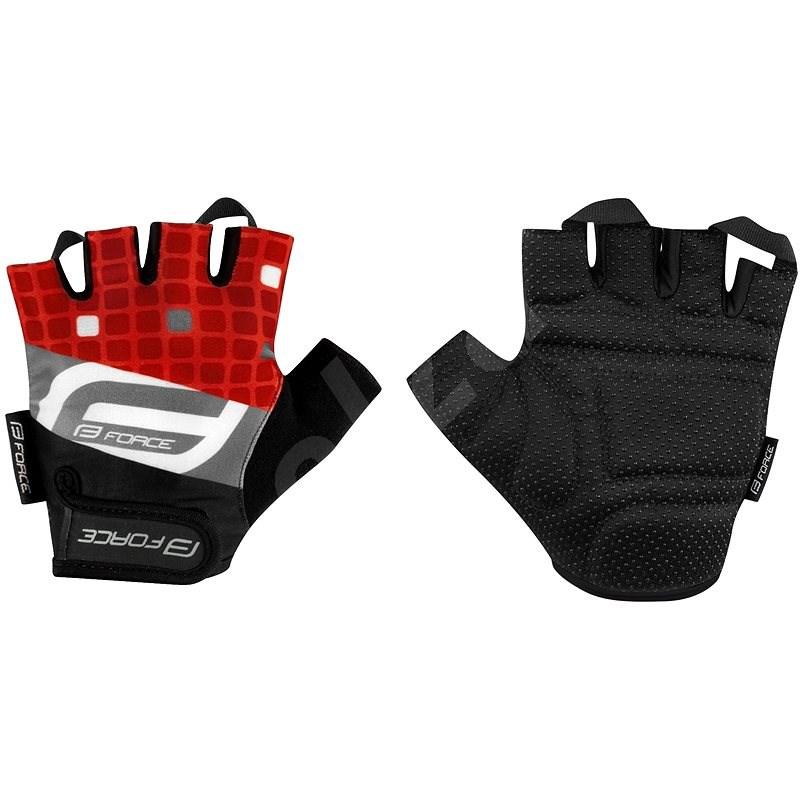 Force SQUARE, červené S - Cyklistické rukavice