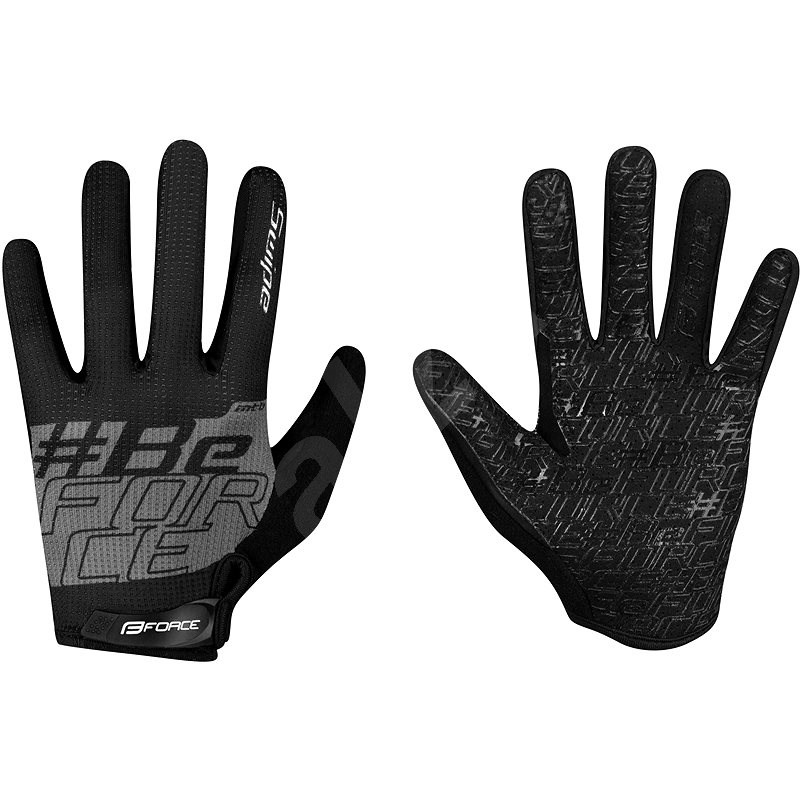 Force MTB SWIPE, černo-šedé XXL - Cyklistické rukavice