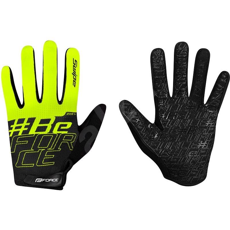 Force MTB SWIPE, černo-fluo S - Cyklistické rukavice