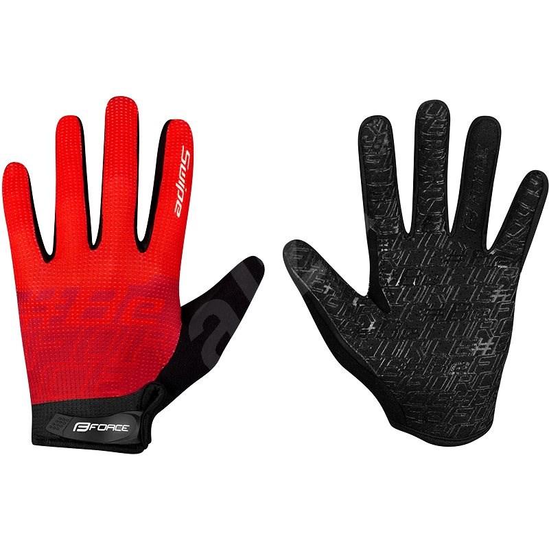 Force MTB SWIPE, červené M - Cyklistické rukavice