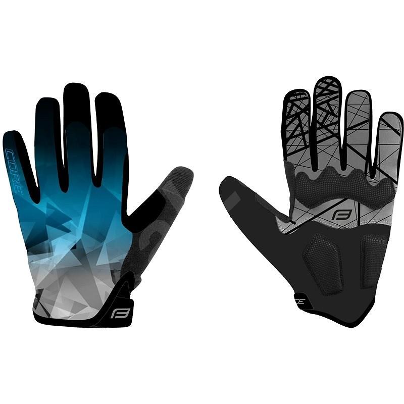 Force MTB CORE, modré L - Cyklistické rukavice