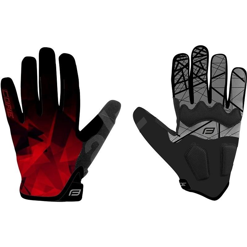 Force MTB CORE, červené M - Cyklistické rukavice