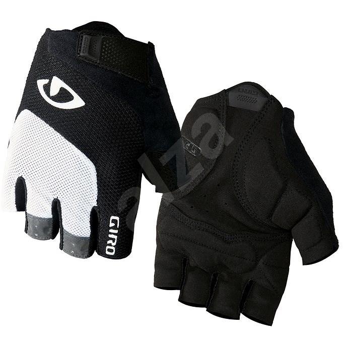 GIRO Bravo White/Black M - Cyklistické rukavice