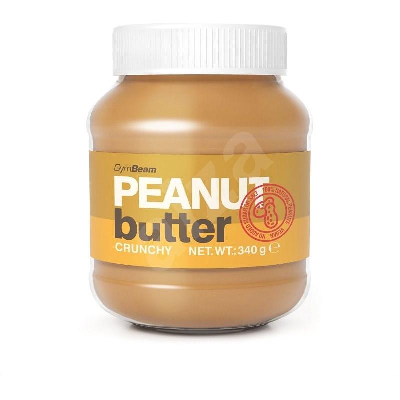 GymBeam Arašídové máslo 100% crunchy 340g - Máslo