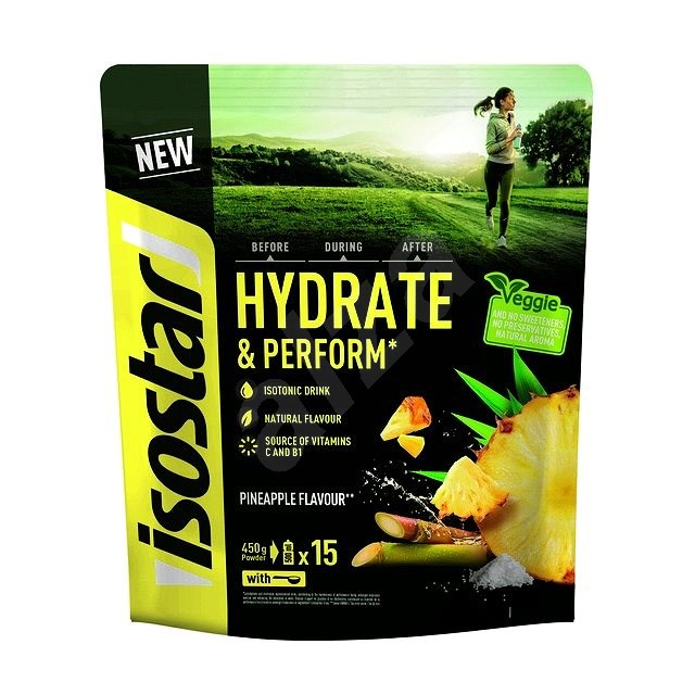 Isostar Hydrate & Perform 450g, Pineapple - Iontový nápoj