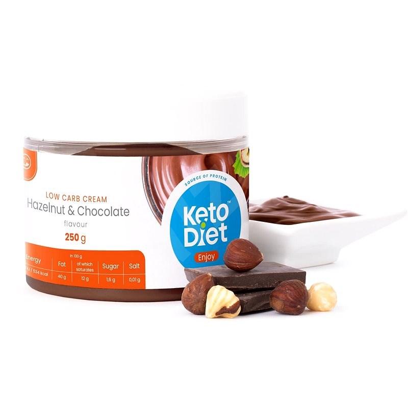 KetoDiet Proteinový krém s lískovými oříšky (250 g - 10 porcí) - Ořechový krém
