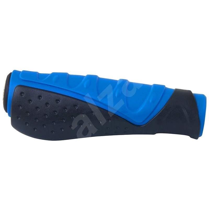 Force madla gumová tvarovaná, černo-modrá, balená - Gripy na kolo