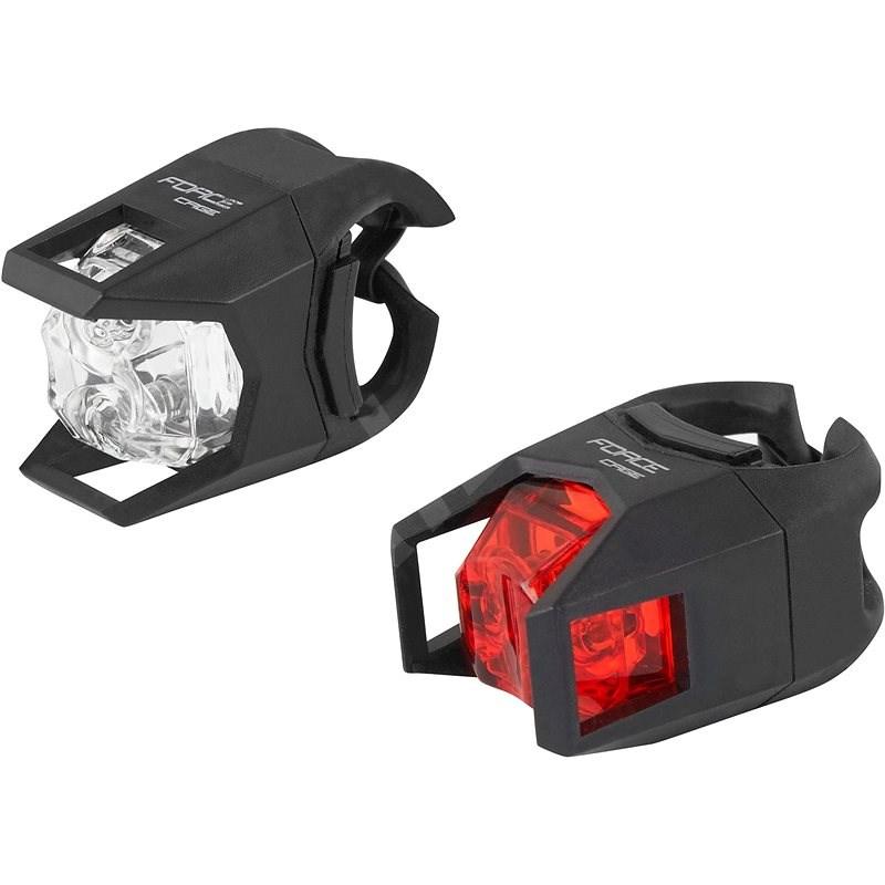 Force Cage přední bílá + zadní červená - Světlo na kolo