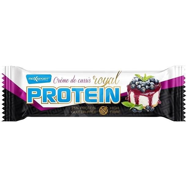 Max Sport Royal protein Créme de cassis 60 g - Proteinová tyčinka