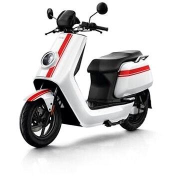 NIU NGT white/red stripes - Elektroskútr