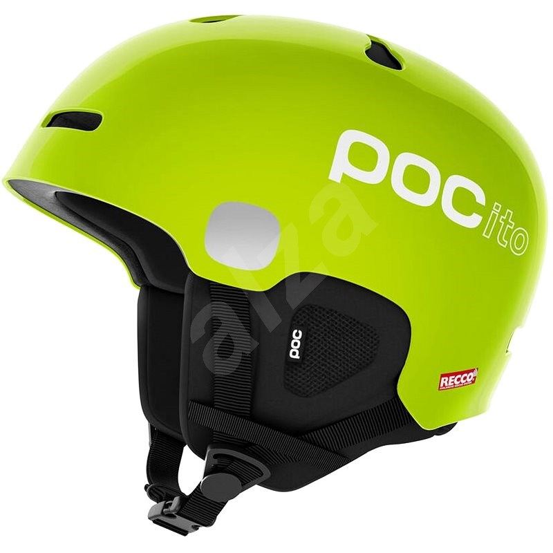 POC POCito Auric Cut SPIN Fluorescent Yellow/Green M-L (55-58 cm) - Lyžařská helma