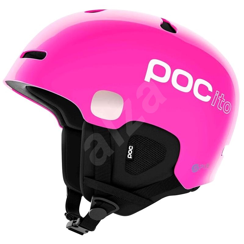 POC POCito Auric Cut SPIN Fluorescent Pink M-L (55-58 cm) - Lyžařská helma