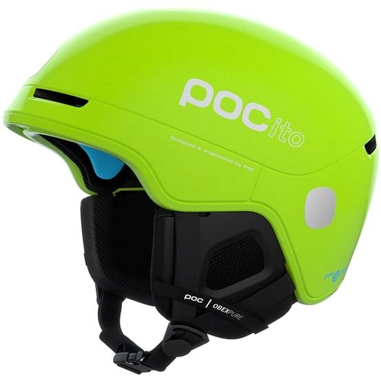 POC POCito Obex SPIN Fluorescent Yellow/Green MLG (55-58 cm) - Lyžařská helma