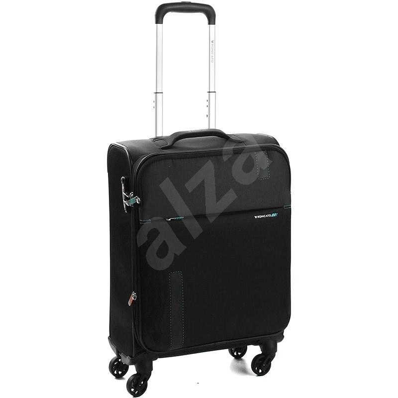 Roncato Speed 55, 4 kolečka, EXP, černá - Cestovní kufr s TSA zámkem