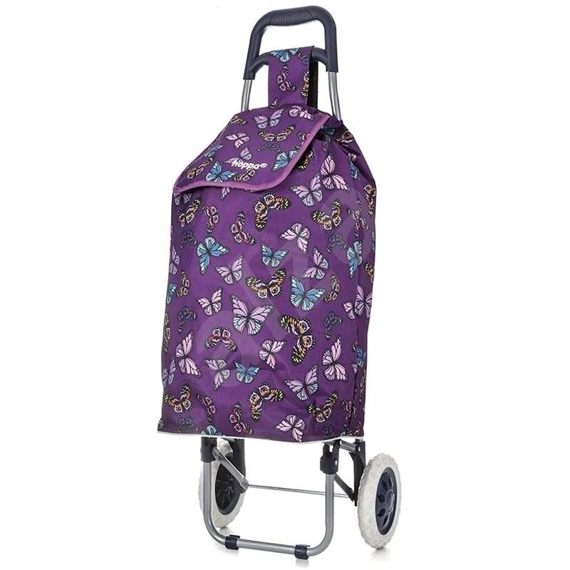 HOPPA ST-105, fialová - Nákupní taška na kolečkách