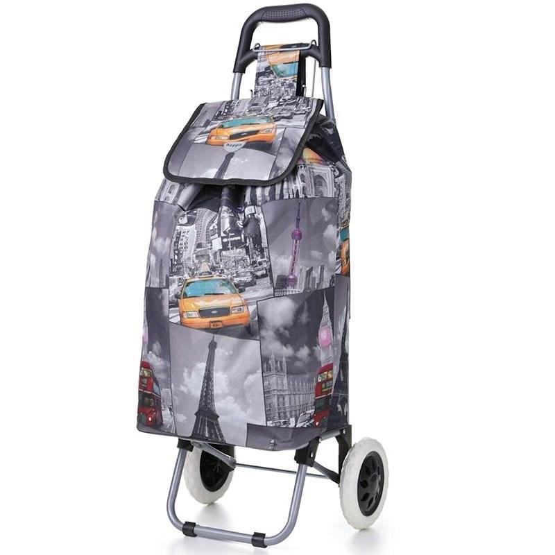HOPPA ST-325, šedá - Nákupní taška na kolečkách