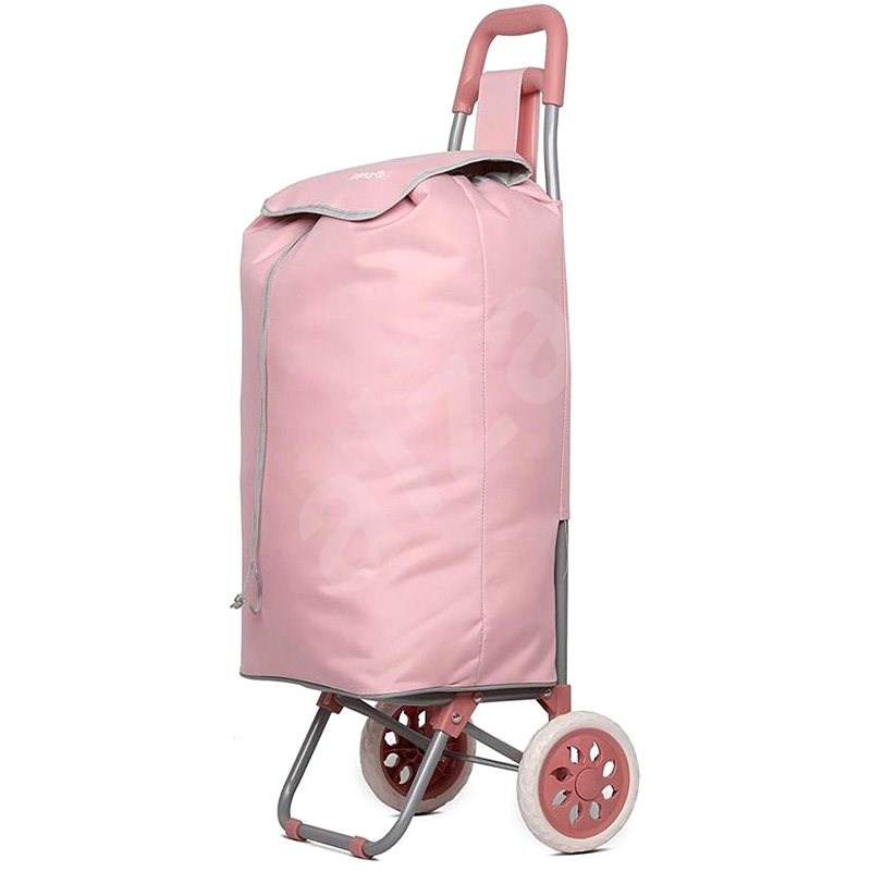 HOPPA ST-40, růžová - Nákupní taška na kolečkách