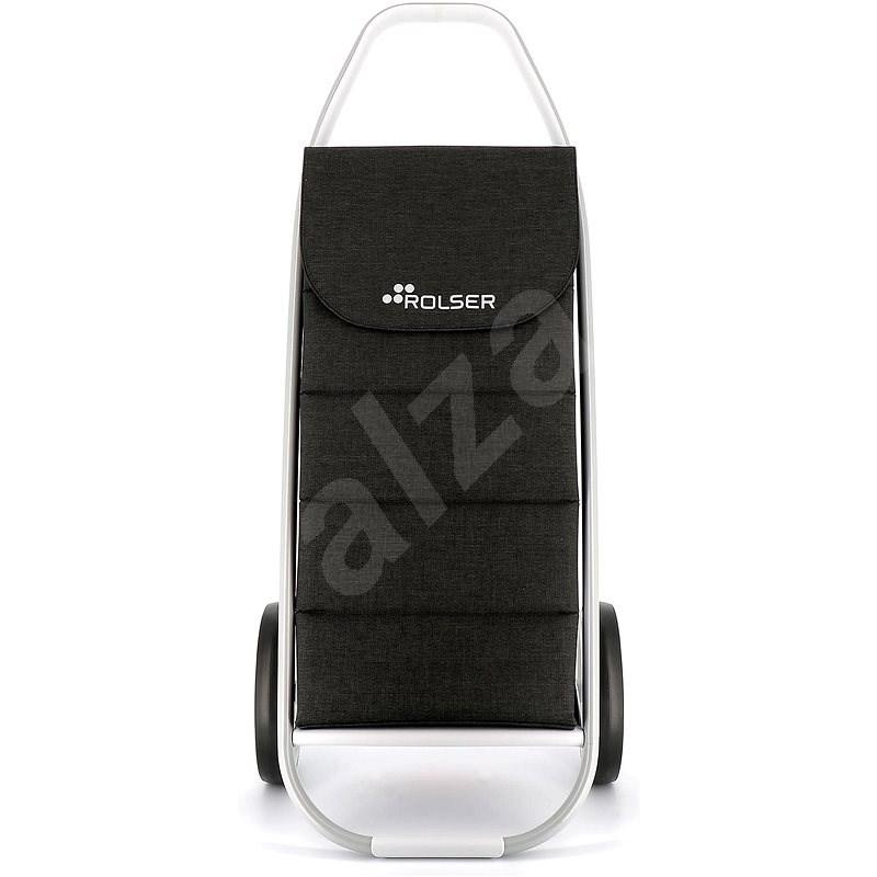 Rolser Com Tweed Polar 8 černá - Nákupní taška na kolečkách