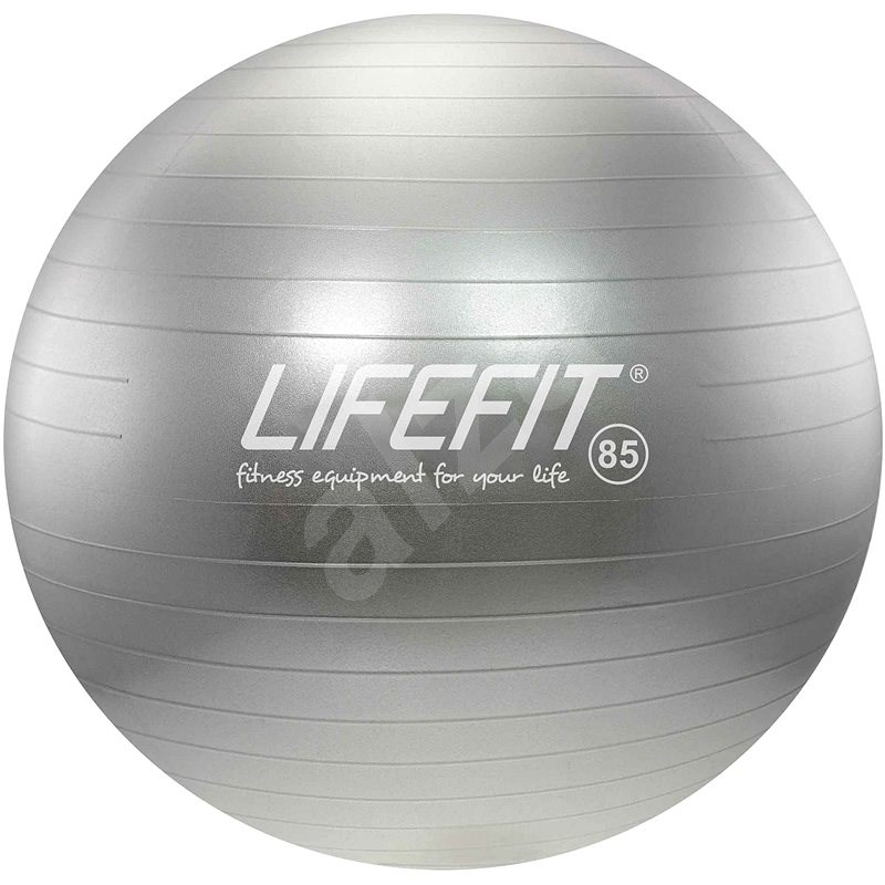 LIFEFIT anti-burst 85 cm, stříbrný - Gymnastický míč