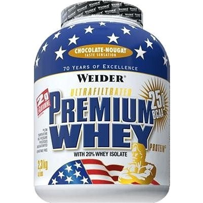 Weider Premium Whey, 2300g, čoko/nugát - Protein