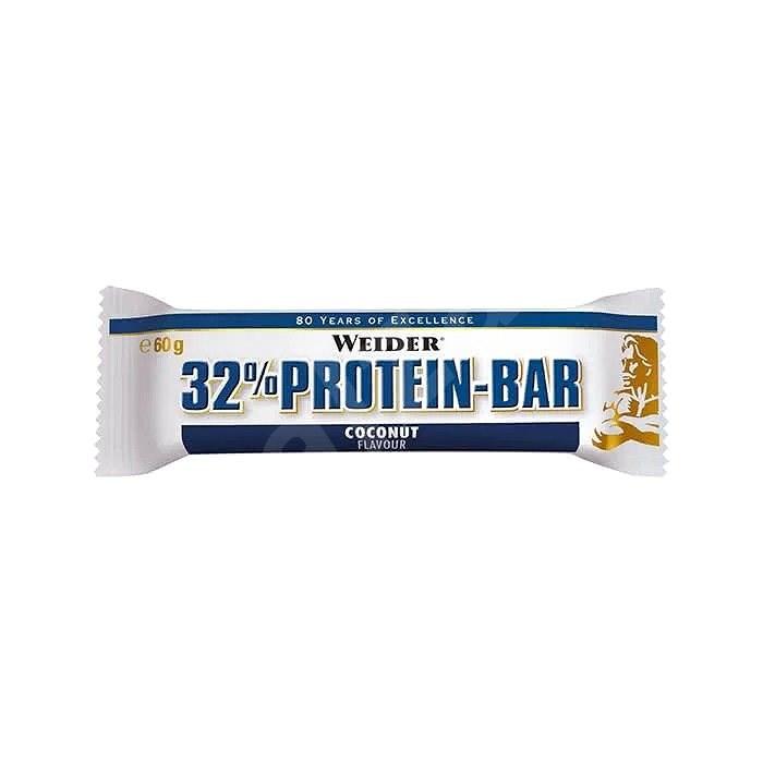 Weider 32% Protein bar kokos 60g - Proteinová tyčinka