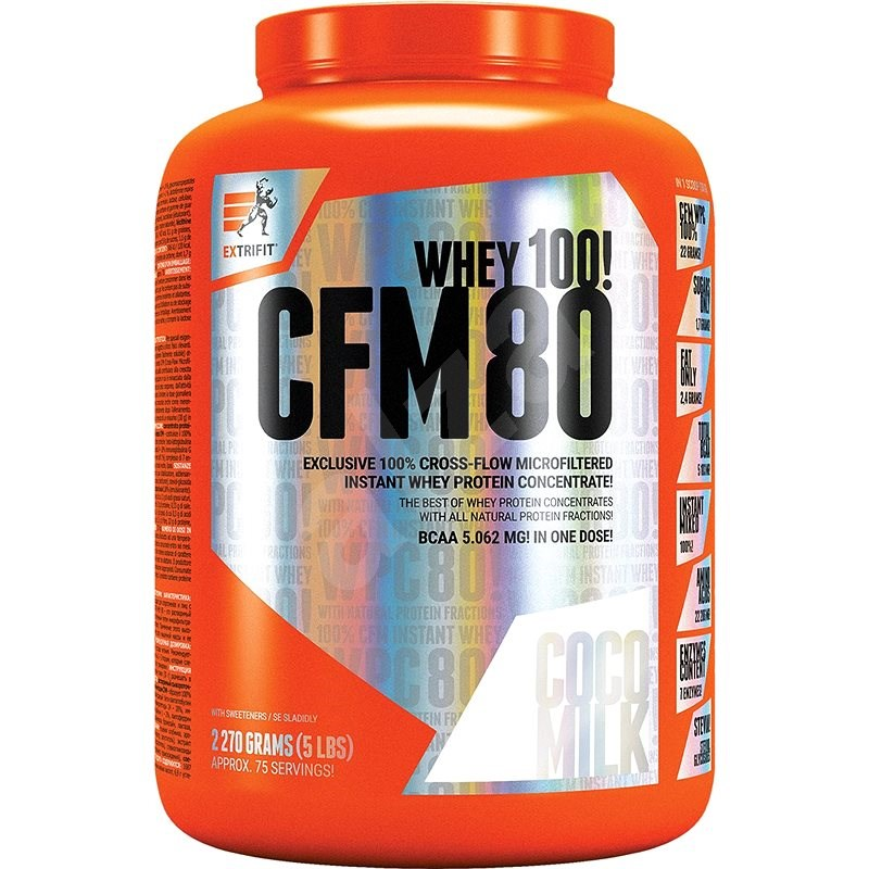 Extrifit CFM Instant Whey 80, 2270g, coco milk - Protein