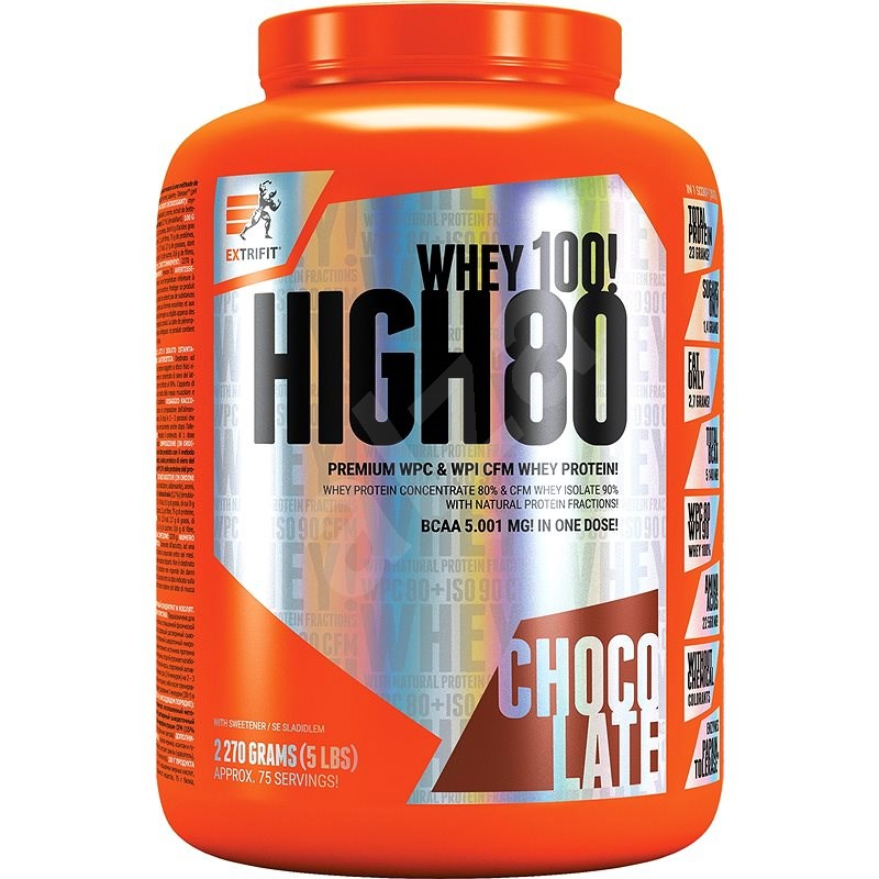 Extrifit High Whey 80, 2270g, chocolate - Protein