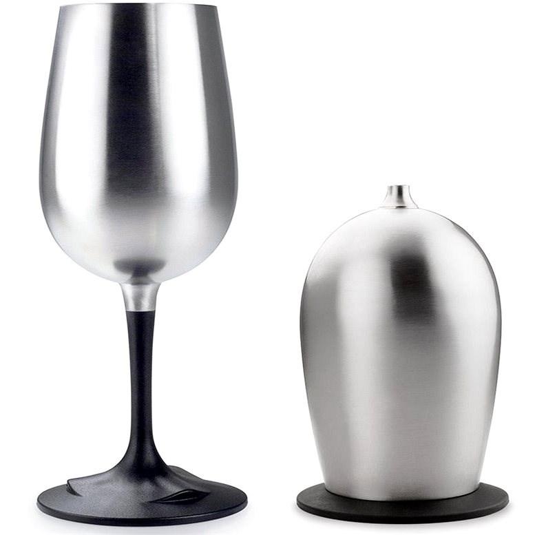 GSI Outdoors Glacier Stainless Nesting Wine Glass - Kempingové nádobí