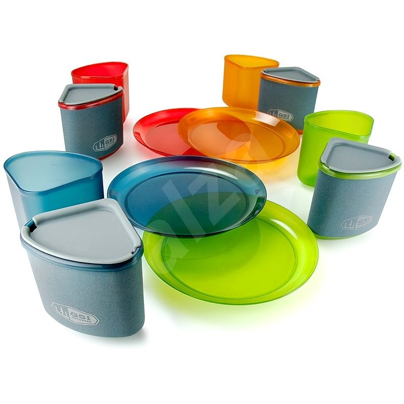 GSI Outdoors Infinity 4 Person Compact Tableset Multicolor - Kempingové nádobí