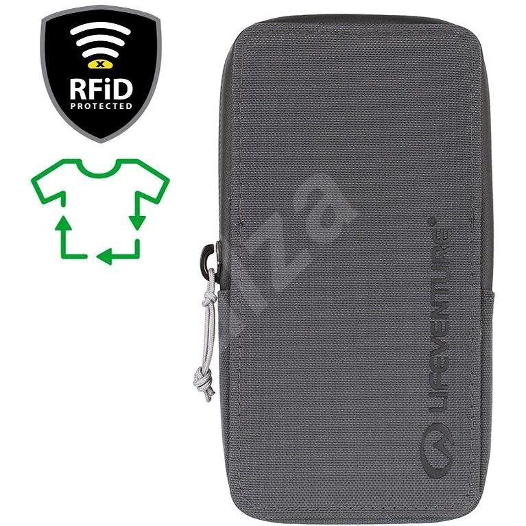 Lifeventure RFiD Phone Wallet Recycled grey - Peněženka