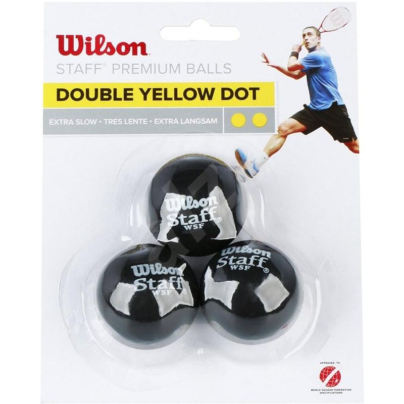 Wilson Staff Squash 3 Ball Double Yellow Dot - Squashový míč